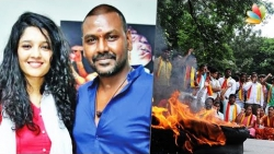 Raghava Lawrence  Ritika Singh come under Kannada extremists attac