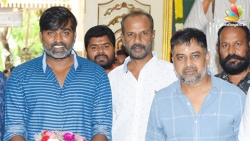 Vijay Sethupathi plays an aged gangster, Renigunta Director - AM Ratnam new movie 1st day shooting