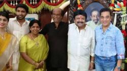 Rajinikanth, Kamal Haasan meets Prabhu in his 60th birthday celebrations
