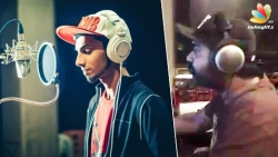 Simbu : What a changeover ! I'm recording and Anirudh is singing