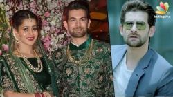 "Big B, Salman, Rekha at ""Kaththi"" movie Villain Neil Nitin Mukesh lavish wedding   Marriage Video"