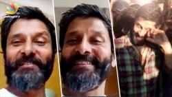 Vikram overwhelmed : thanks fans for love and support   Birthday celebration, Sketch Movie