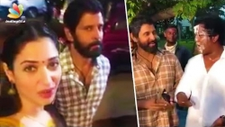Tamanna asks Who is SKETCH ?   Vikram at Last Day Shooting Celebration
