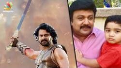 Prabhas surprises Vikram Prabhu's son with Bahubali Gift   Latest Tamil Cinema News