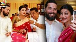 British boyfriend in Veshti for Kamal!   Shruti Hassan, Michael Corsale at Aadhav Wedding
