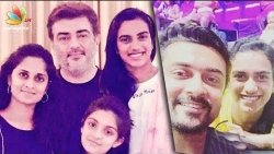 PV Sindhu meets Thala Ajith and Suriya's Family | Shalini, Jyothika | Latest News