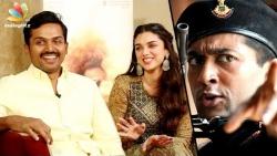 Karthi Interview : Happy To Be Compared With Surya in 'Vaaranam Aayiram'   Aditi Rao Hydari