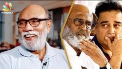 Why I'm not entering politics : Sathyaraj Interview   Rajini, Kamal   Echarikkai Movie