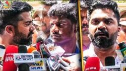 Simbu Trolls Back Reporters | Mansoor Ali Khan Arrest | Latest Speech