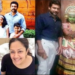 Actor Suriya on Family Vacation in Kerala with Jyothika & Nagma