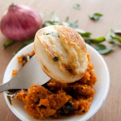 49: How to Make Masala Paniyaram Recipe with Idli/Dosa Batter - Fermented Rice Batter Balls