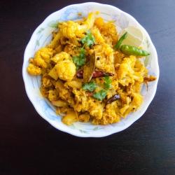 55: How to Make Gobi Aloo Bhujia Recipe - Cauliflower Potato Stirfry