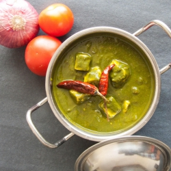 60: How to Make Palak Paneer Recipe - Spinach Indian Cottage Cheese Recipe