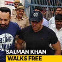 Salman Khan Guilty But Set Free On Bail