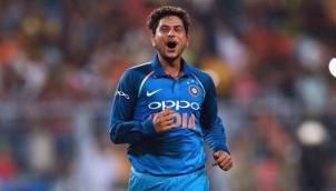 India celebrates the Kuldeep Yadav's historic hat- trick