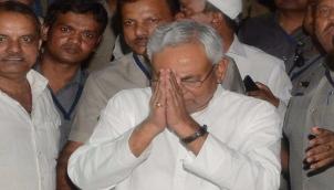 नितीश कुमार ने बिहार के मुख्यमंत्री के रूप में शपथ ली   Nitish Kumar again sworn in as Bihar chief minister