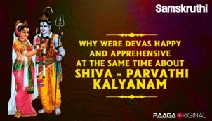 Why were Devas happy and apprehensive at the same time about Shiva - Parvathi Kalyanam