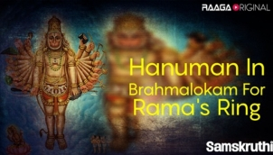 Hanuman In Brahmalokam For Rama's Ring