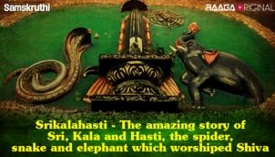 Srikalahasti - The amazing story of Sri, Kala and Hasti, the spider, snake and elephant which worshiped Shiva