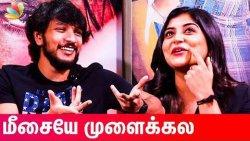 OMG ?? : Gautham Karthik & Manjima Mohan Reacts to Funny Youtube Trolls | Devarattam Interview