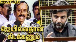 தீய சக்திகள் சிறையிலதான் இருக்கணும் : H Raja Speech against Thirumurugan Gandhi | Sterlite Protest